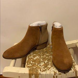 NWOT Frye Suede & Glitter Ankle Booties Sz 8.5